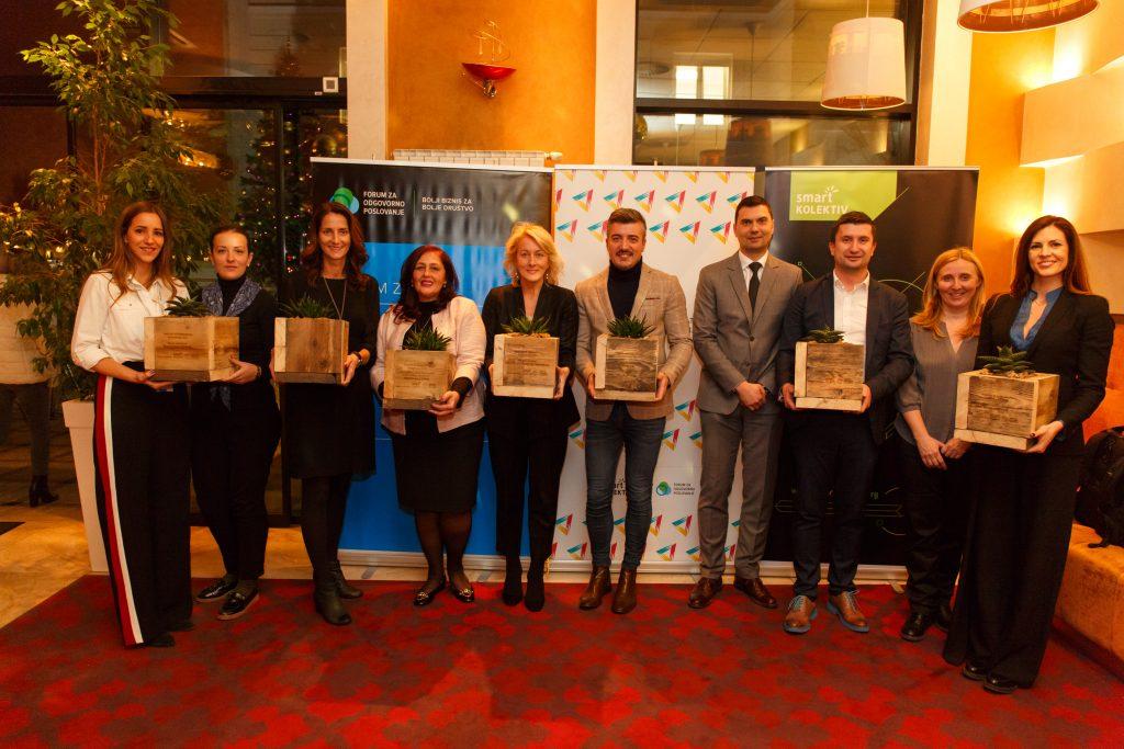 Dobitnici Nagrade za korporativno volontiranje za 2017.